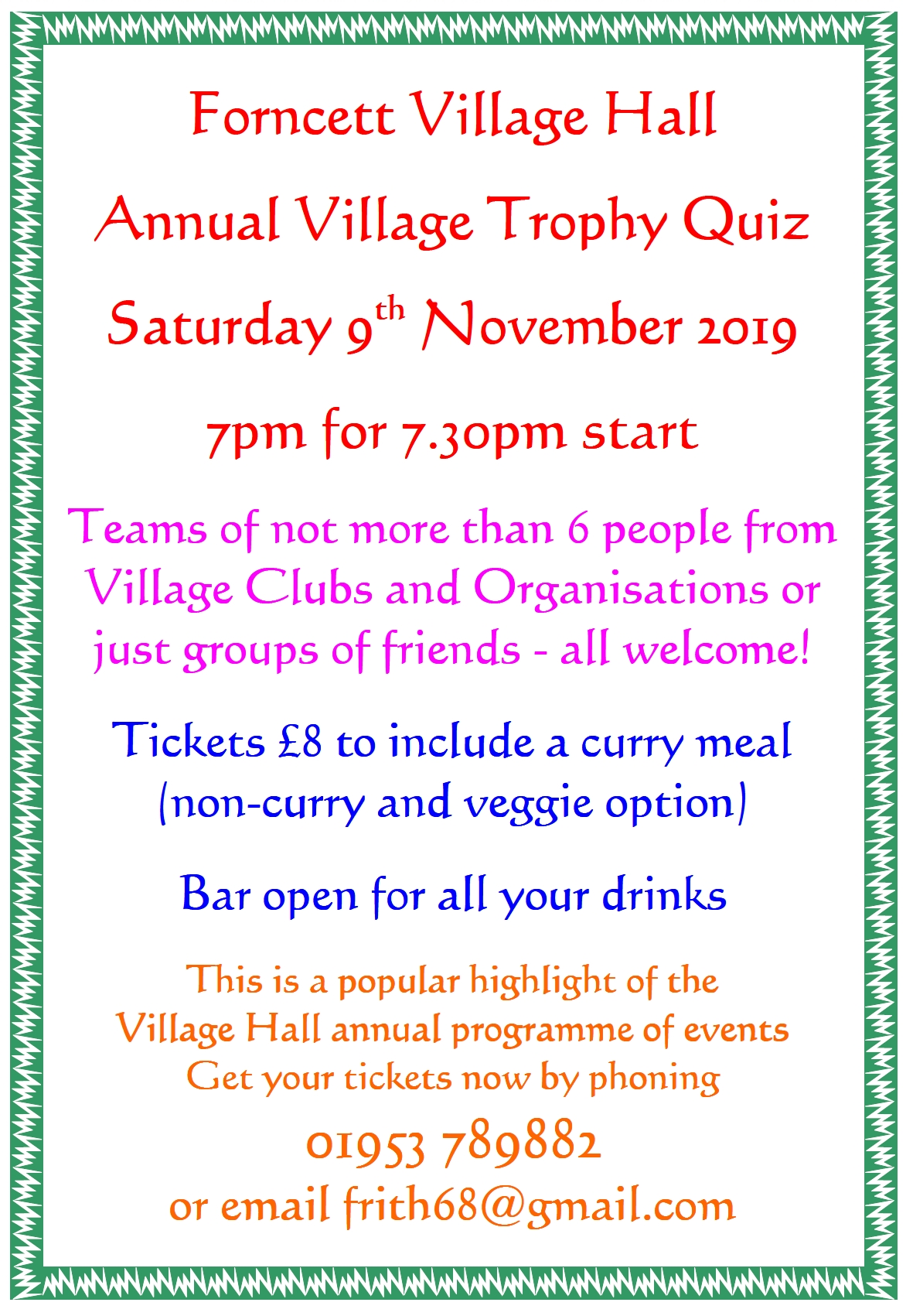 Trophy Quiz Nov 2019