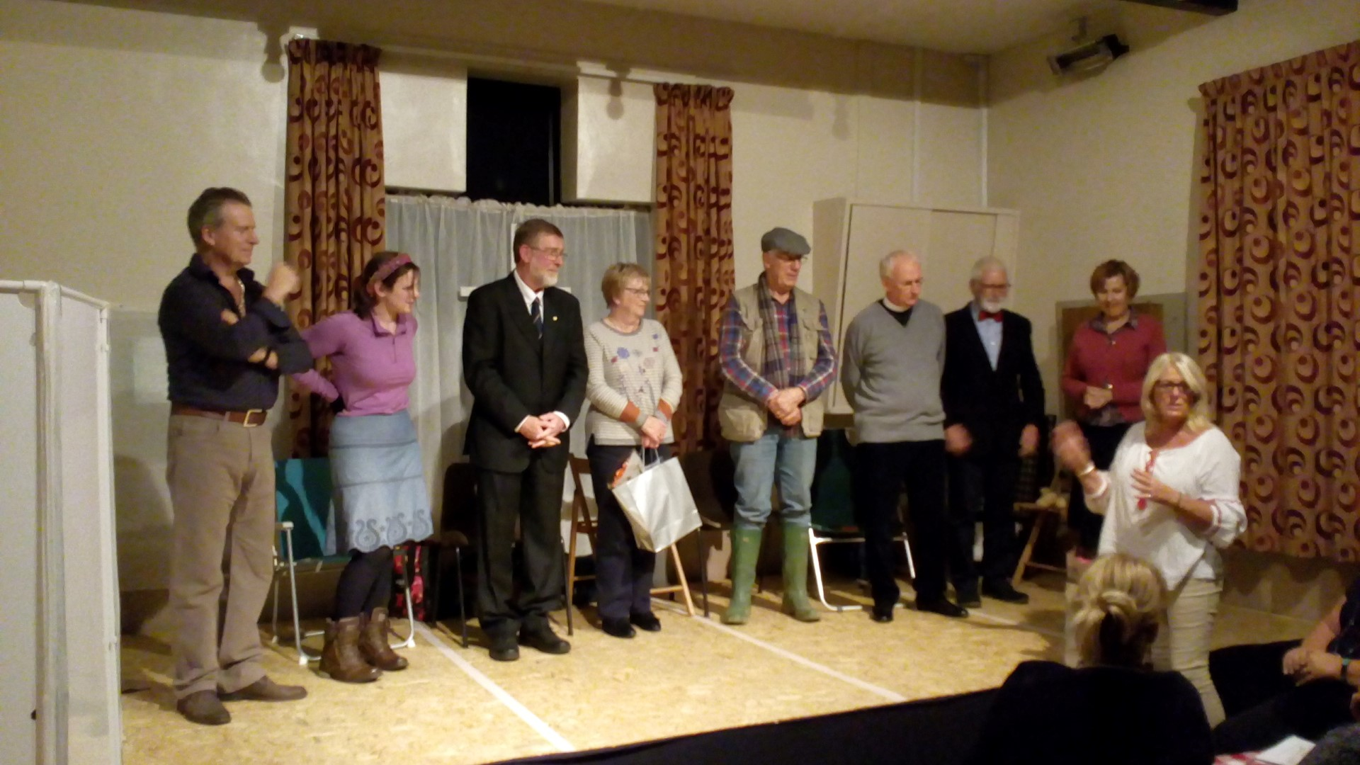 The full cast with Director, Gill